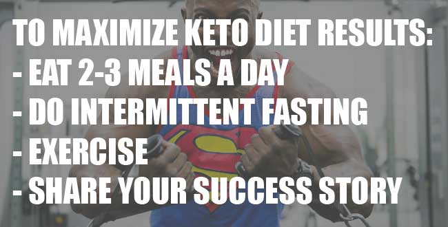 How to maximize results on a keto diet