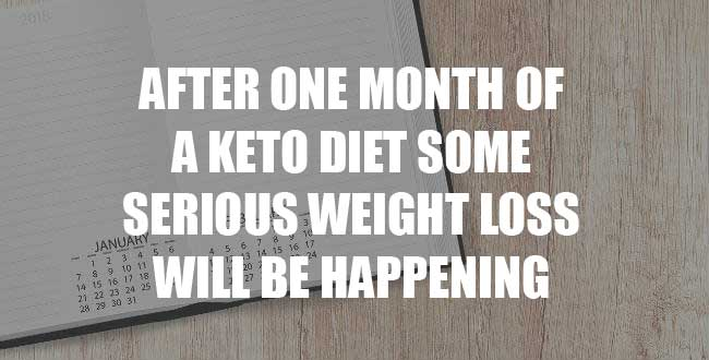 Keto diet results one month