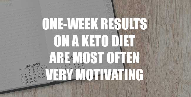 Keto diet results after one week