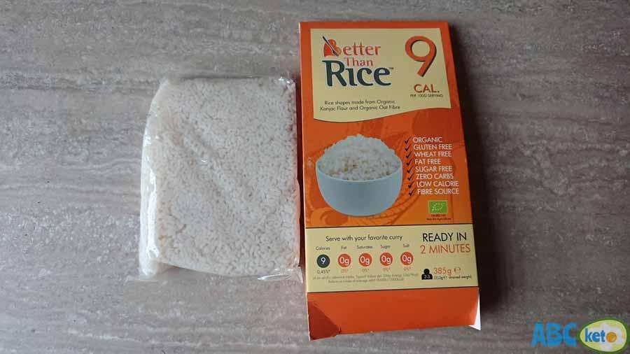 keto chocolate rice pudding ingredients, better than rice, konjac rice, keto rice, zero carb rice, shirataki rice