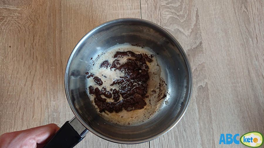 Keto chocolate peanut butter fat bombs ingredients, dissolving sugar-free chocolate