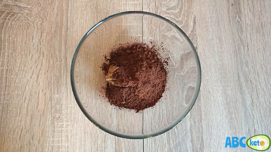 Keto chocolate peanut butter fat bombs ingredients, cocoa powder