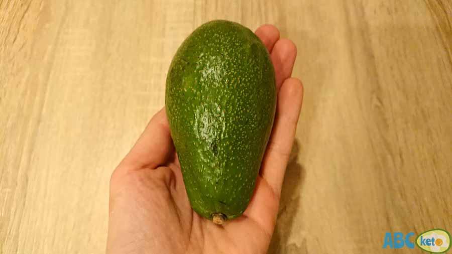Keto egg salad ingredients, avocado