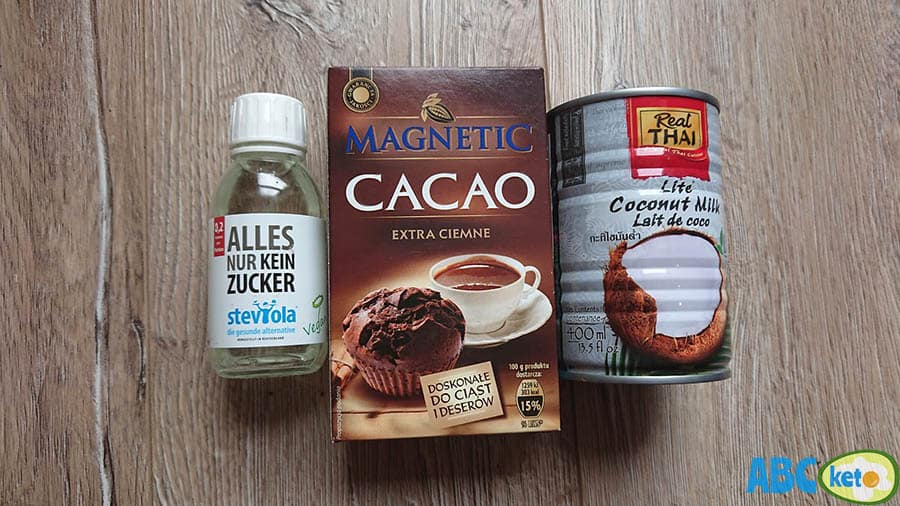 Keto chocolate milk ingredients