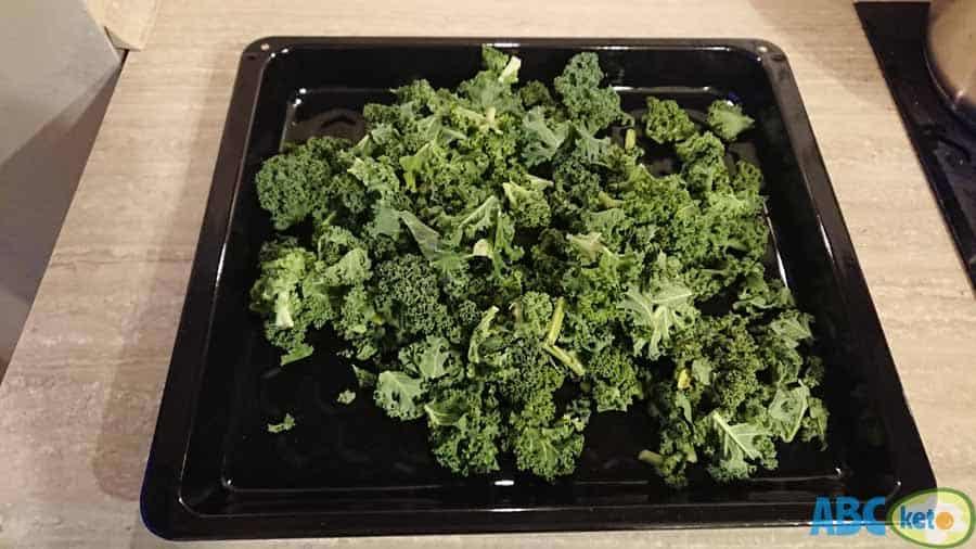 raw kale, keto kale chips