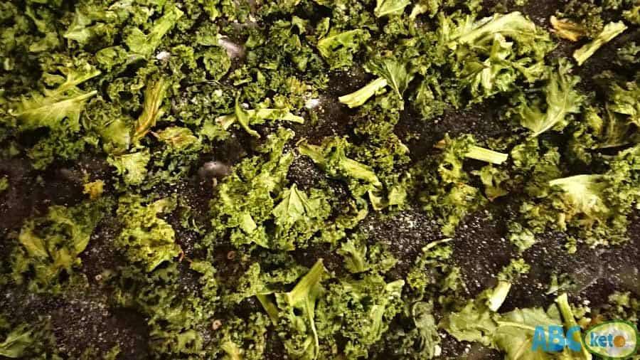 Ready keto kale chips