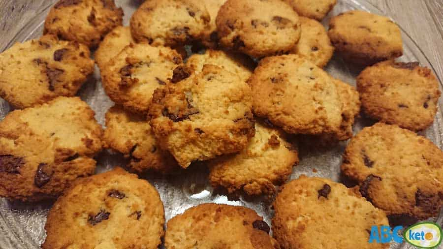 Keto peanut butter cookies on plate