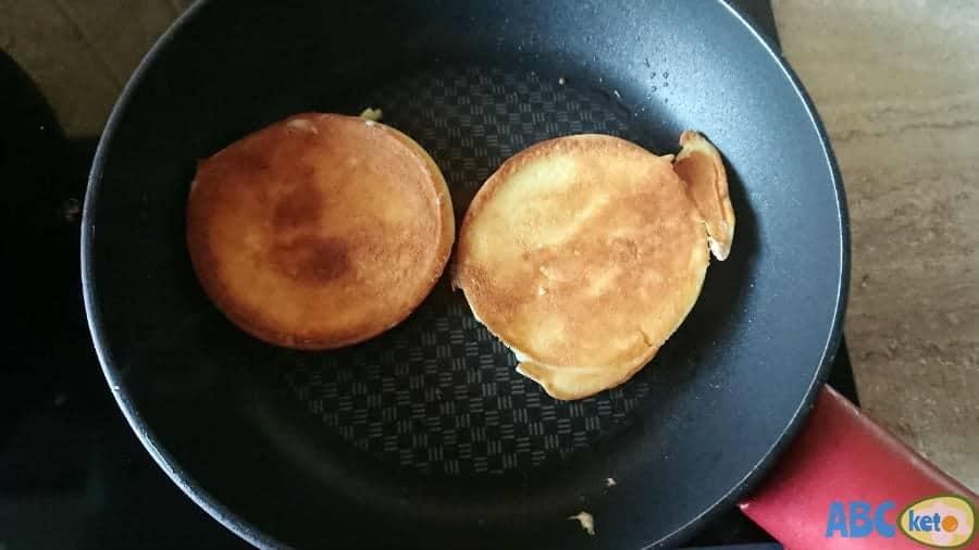 Flipping keto pancakes
