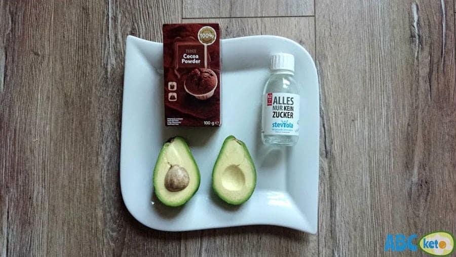 Ingredients for avocado Nutella