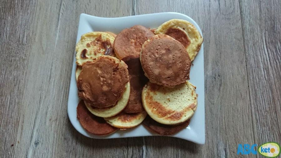 A plate full of keto pancakes