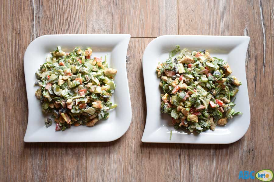 Keto chicken salad recipe, 2 servings