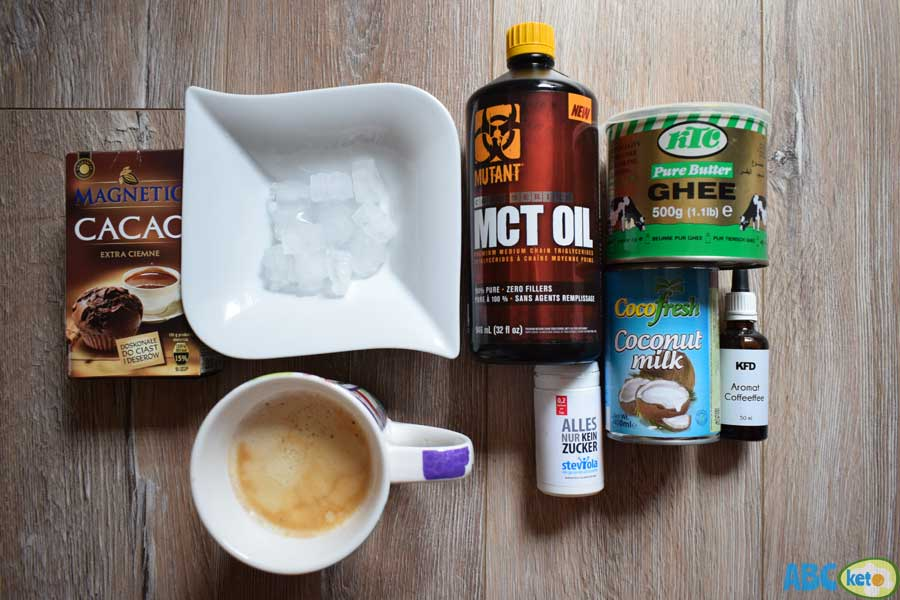Keto iced coffee ingredients