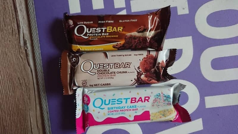 Keto on vacation, quest bars
