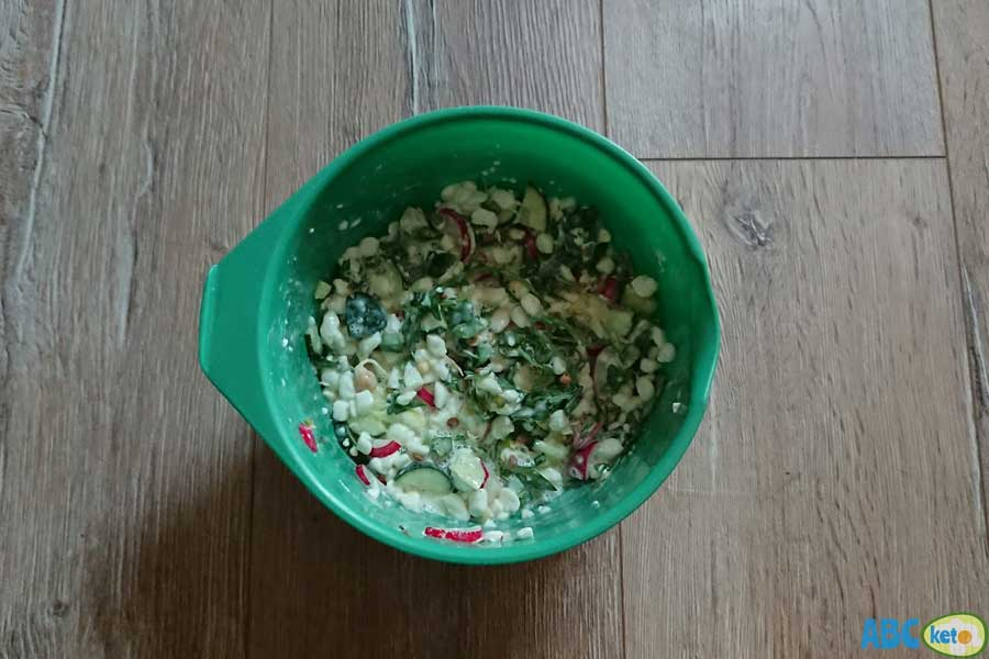 psmf diet meal plan, cottage cheese salad